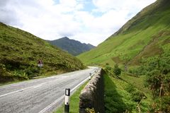 Street in the Scotish Highlands Royalty Free Stock Images