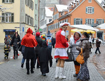 Street scurry of the German carnival Fasching Royalty Free Stock Photos