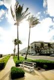 Street in a sea resort Stock Photo