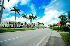 Street in a sea resort Royalty Free Stock Image