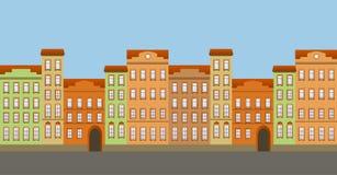 Street seamless vector illustration