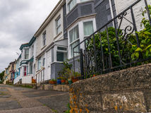 Street in a seaside town, with colorful facades of buildings, en Royalty Free Stock Photo