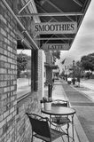 Street Seating at Cafe Stock Images