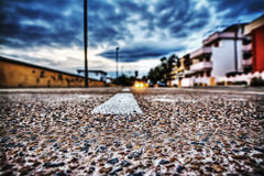 Street seen from the ground Royalty Free Stock Photography
