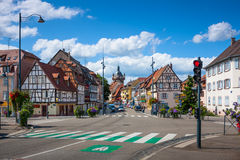 Street of Selestat in Alsace. France Royalty Free Stock Image