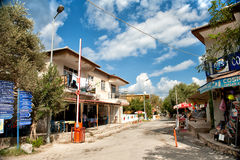 Street in Selimiye village Turkey Royalty Free Stock Photos