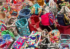 Free Street Sell Of Handcrafted Traditional Wayuu Bags In Cartagena Stock Photo - 168470430