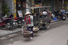Street seller in Hanoi Stock Photography