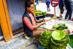 Street Seller of Nepal Royalty Free Stock Image
