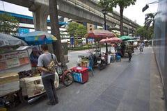 Street seller on Ratchaprasong Royalty Free Stock Image