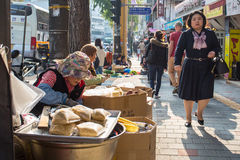 Street Seller in Seoul Royalty Free Stock Photo