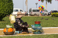 Street seller street in Phnom Phen Royalty Free Stock Images