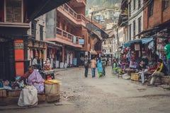 Street sellers in Kathmandu Royalty Free Stock Image