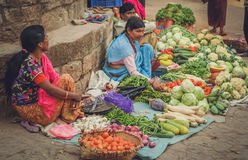 Street sellers in Nepal Royalty Free Stock Image