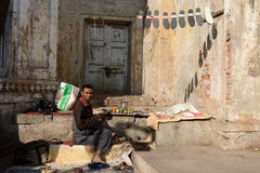 Street sellers of vegetables in India Stock Image