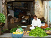 Street sellers of vegetables in India Royalty Free Stock Photography