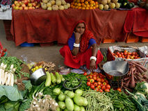 Street sellers of vegetables in India Royalty Free Stock Photos