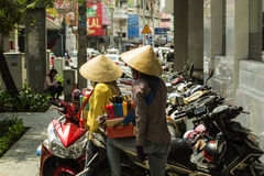Street sellers in Vietnam stock image