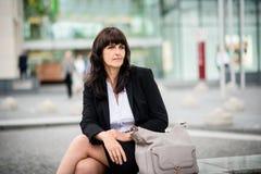 Street senior business woman portrait Stock Images