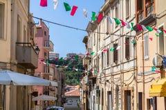 Street of the Sennori town Stock Images