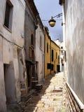 Street of Serra Capriola Royalty Free Stock Photos