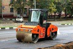 Street service mashine. Service mashine for asphalt pressure on the moscower street Royalty Free Stock Images