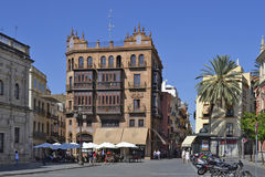 Street in Seville, Spain royalty free stock photography