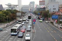 Street in Shanghai, China Stock Photos