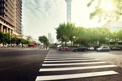 Street  in Shanghai Lujiazui Royalty Free Stock Image