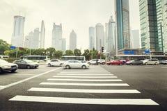 Street  in Shanghai Lujiazui Stock Image