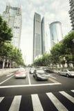 Street  in Shanghai Lujiazui Royalty Free Stock Images