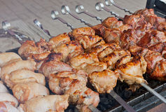 Street shashlik Stock Images