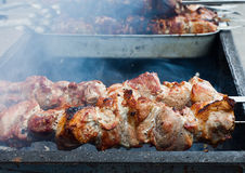 Street shashlik Royalty Free Stock Photos