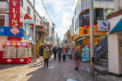 The street at Shinjuku area in Tokyo, Japan Royalty Free Stock Photo