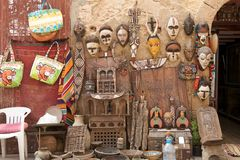 Street shop in Essaouira Morocco Royalty Free Stock Images
