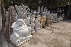 Religious statues street shop Stock Images
