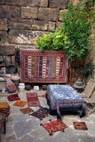 Street shopping. Antiques shopping in an old Mediterranean town Royalty Free Stock Photos