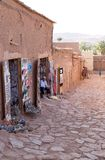 Street shops at Aid Benhaddou Stock Photography
