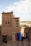 Street shops at Aid Benhaddou. Street shops along the street inside the fortified city or Ksar of Aid Benhaddou in the South of Morocco Stock Image
