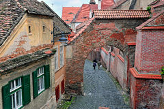 Street of Sibiu city centre Royalty Free Stock Images