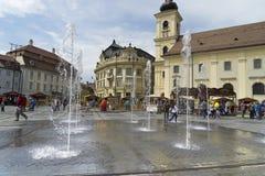 Street in Sibiu Romania Stock Photo
