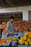 Street side fruit vendor: Islamabad, Pakistan Royalty Free Stock Photo