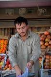 Street side fruit vendor: Islamabad, Pakistan royalty free stock photography