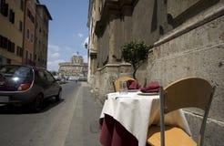Street side restaurant rome it royalty free stock photos