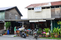 Street-side restaurant in Tanjung Sepat, Malaysia Stock Images