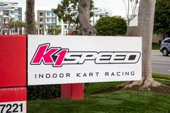 K1 Speed building sign royalty free stock image