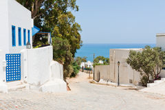Street in Sidi Bou Said Royalty Free Stock Photo