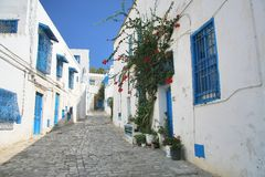 Street in Sidi Bou Stock Photo