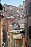 The street of Siena Royalty Free Stock Photo