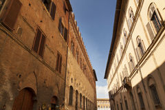 Street in Siena, Tuscany Royalty Free Stock Photography